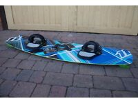 North X Ride Kite board with kite, belt and pump.