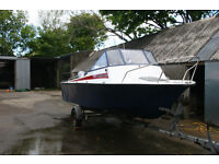 19' Fishing Boat, 60hp Mariner 4 stroke