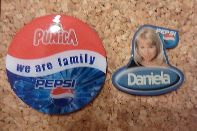 2 verschiedene PEPSI Pins, PUNICA BIG BROTHER Daniela