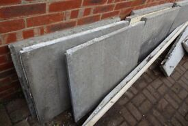 Concrete slabs from a dismantled Marley Garage ideal for foundations for patio , shed or garage