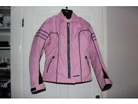 ladies / girls pink motorcycle jacket