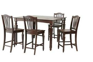 Onoway Five Piece Dining Set Counter Height In Mahogany