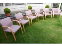 CHAIRS, 6 OF THEM, SALON, RECEPTION ETC, £120 O.N.O CAN DELIVER LOCALLY,