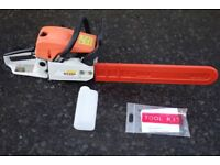 """Cobra G5200 20"""" chain saw. Never used with fuel mixing bottle and tool kit."""