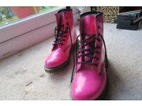 PINK DOC MARTEN BOOTS UK size 4