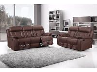 EXPRESS DELIVERY: BRAND NEW ROMA RECLINER SOFA SET (3+2) ON SPECIAL OFFER