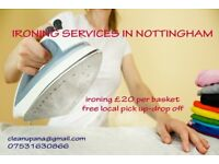 ironing services in Nottingham