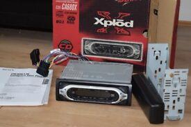 SONY CAR CD RADIO FLIP DOWN BOX/MANUEL/WIRES/CAGE/SUB CONNECTION