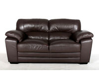 Brown Leather Sofa 2 Seater Settee 1 of 2 *FREE LOCAL DELIVERY*