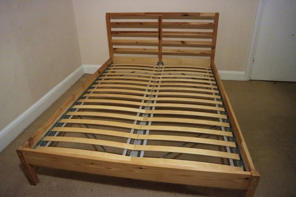 Ikea Tarva Double Bed Frame Pine Luroy Good Condition In Surbiton London Gumtree