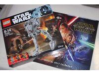 LEGO STAR WARS AT-ST WALKER (ROGUE ONE) inc 3 minifigures (75153) +OFFICIAL 2017 TFA CALENDAR - NEW