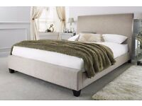 Brand new! LUXURY Oatmeal beige Fabric single Bed Frame RRP149
