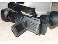 Sony DSR-PD170P Professional Video Camera with a host of accessories.