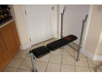 Weights bench - wider stance bench by Pro Power, incline, decline or flat adjustments