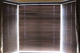 Hillarys Wooden Slatted Blinds Suitable for Bay Window
