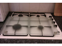 Hob cover, worktop saver, heat resistant hardened glass, with rubber feet