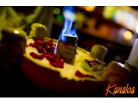 Part time bartenders and waitreses needed for a Kanaloa tiki bar in the heart of City.