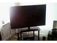 "44"" SAMSUNG TV/Glass stand/Blue Ray DVD player £160. Call 01340 820301. For collection only."