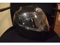 Airoh Motorbike Helmet black shiny metallic, very good condition, anti fog pad, size M/L