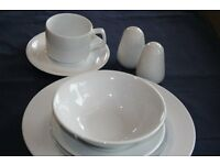 LARGE QUANITY OF CROCKERY,CUTLERY AND GLASSWARE -EXCELLENT CONDITION