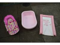 Baby Bath Seat, Bath and Free Changing Pad