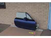 2005 Mazda MX5 drivers side door (complete with glass, mirrors etc) in Strato Blue