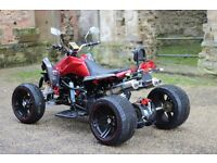 NEW 2017 250CC RED ROAD LEGAL QUAD BIKE ASSEMBLED IN UK 17 PLATE OUT NOW! FREE NEXT DAY DELIVERY