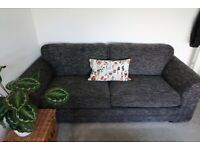 3-4 seater sofas and footstool with storage!