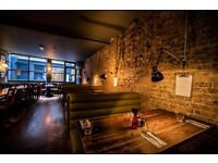Full time bartender/waiter/waitress in a busy city gastro pub. Full time