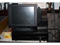 Black Touch Screen Till Cash Register With Receipt Printer Spares Or Repair