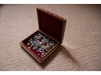 Pandora jewellery and lovely wooden jewellery box.