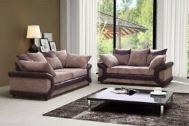 🎆💖🎆BEST QUALITY🎆💖🎆DINO JUMBO CORD CORNER OR 3 AND 2 SEATER SOFA--BLACK/GREY OR BROWN