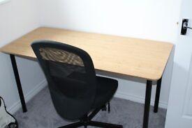 Ikea Bamboo Desk w/ chair