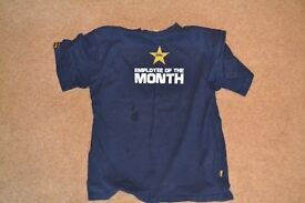 Employee Of The Month - Mens Tee Large - Plain Lazy - Excellent Condition