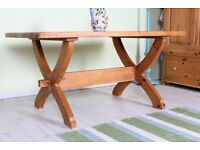 DELIVERY OPTIONS - LOVELY OLD RUSTIC PINE TABLE WAXED FINISH LOTS OF CHARACTER