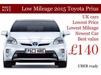 2015 - 2016 Toyota Prius Hire, PCO Car with Insurance - PCO CAR HIRE Uber READY - New cars available