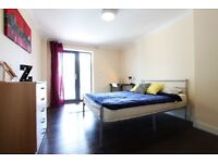 J*/DOUBLE ROOM WITH BALCONY** EAST ACTON** LOVELY 4BED FLAT+ROOF TOP