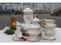 Vintage Fine China Coffee /Tea Set 15 Pieces (New)