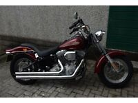 2002 Harley Davidson FXST Softail with V & H Longshot exh and Hyper-charger