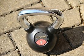 Jordan 8kg chrome and rubber covered competition kettlebell / kettle bell. Weights / gym / fitness