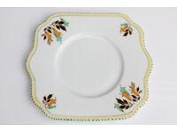 Old Vintage Avoca Ceramic Cake Plate Irish Sandwich Plate Antique Art Deco