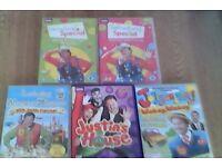Mr tumble/justin fletcher 5x dvds