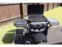 New York 3 burner propane gas barbecue/BBQ with side burner [with full 11kg calor gas bottle]
