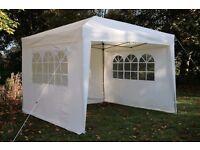 Airwave Pop Up Marquee Gazebo 3x3m with Wind Bars & Leg Weight Bags - Cream