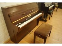 Squire & Longson small upright piano and stool - Tuned & UK delivery available