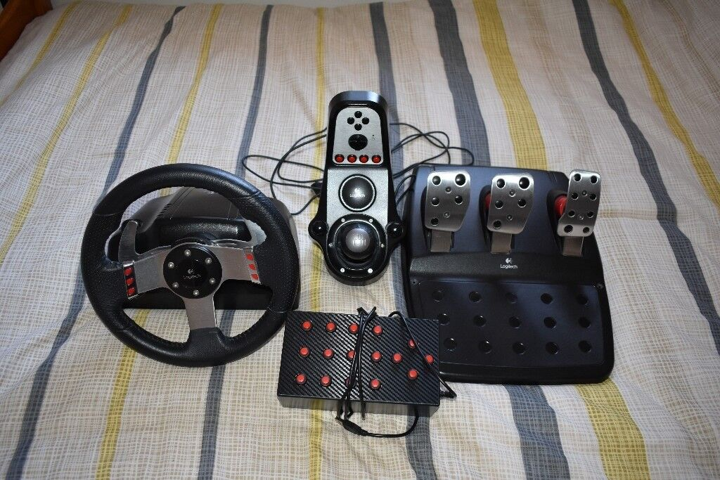 Logitech G27 and 16 button box | in Beccles, Suffolk | Gumtree