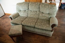 3 seater sofa with foot rest