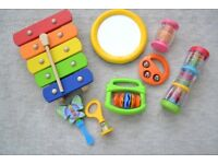 SELECTION OF 8 TODDLER MUSICAL INSTRUMENTS EXCELLENT CONDITION