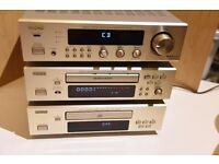 Two Denon F100 Audio Systems (Audio amp and separates plus AV amp and power amp)