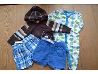 A bundle of baby boy clothes, Size newborn - 9 months